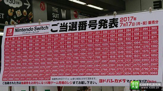 任天堂Switch持续火爆 日本各地摇号出售