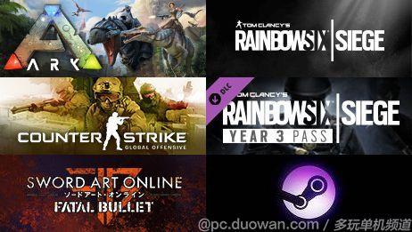 Steam销量周榜:《天国 拯救》坐稳第二《彩虹六号》强势突围